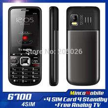 Unlocked Quad Band 4 SIM Card Call Ph