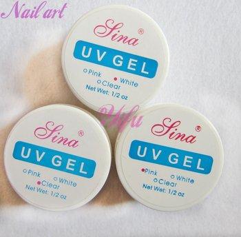 Free Shipping-3x10pcs UV builder gel for creating fantastic crystal french nail effect / Nail Art Manicure Make Up Nail Tools