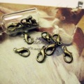 Min.order $10(mix order)Bronze Plated(30PCS) Jewelry Accessory Lobster Clip(PJ004#)