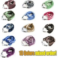 1pcs MOQ, 100%Viscose Mixed Colors, 2014 Fashion  Necklace Pendant Jewerly Scarf Original Factory Supply, MCSF001, Wholesale