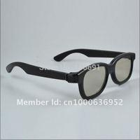 Free shipping 50pcs/lot Circular Polarized Passive 3D Glasses Plastic for Real D 3D Cinemas and Passive 3D TV