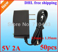 DC 5V 2A 2000mA Power Adapter Supply Charger adaptor SF-689 3.5mm x 1.35mm 50pcs DHL free shipping wholesale