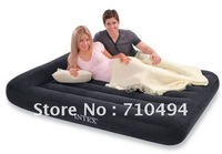 Free DHL Shipping INTEX 66769 queen size air bed with intex hand pump, INTEX queen size bulit-in pillow air mattress