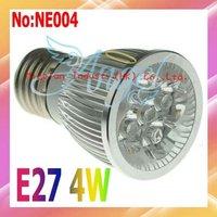 Free shipping 4W E27 White Warm White Cold White LED lights AC 90V-265V High quality 3 year Warranty # NE004