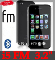 "Free shipping i5 phone 3.2 ""touch screen unlock GSM dual card mobile phone i5 5GS P5"