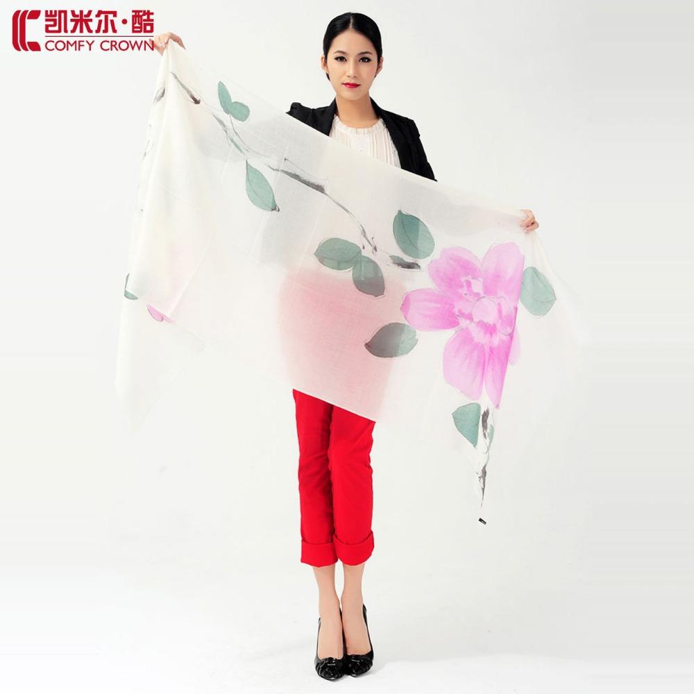 Moda nuova sciarpa swc106 alta- qualità dipinto a mano pashmina 26 colori disponibili all'ingrosso 100% sciarpe sciarpe in cashmere