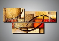 High quality hand paint 3 panel canvas art abstract group oil painting on discount