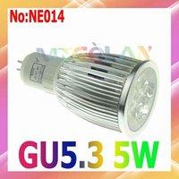 Dimmale 5W LED Spot light GU 5.3 AC 90V-265V Free shipping 3year warranty#NE014