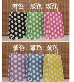 Freeshipping! NEW  dots gift paper bag/ gift package / Jewelry /27*21*11CM/Fashionable / Wholesale