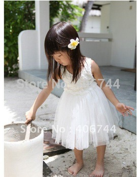 2013 hot sell ! Wholesale girls flower dress,girls summer  clothing,AL129