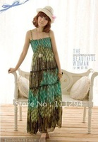 Free shipping Bohemia dress;peacock style dress;fashion dress0129