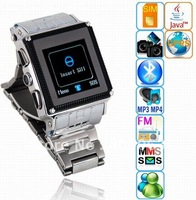 Free Shipping W818 Quad Band  Bluetooth Java 1.5 inch Touch Screen  Mobile Phone Watch