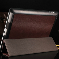 Luxury Pattern PU leather case for ipad 3 4 2 with stand Smart cover Magnetic Flip Thin Slim, Brown Red Blue Black, Free Stylus!(China (Mainland))