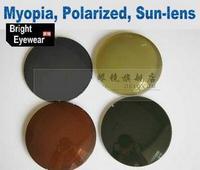 Myopia short-sight polarized prescription sunglasses night driving lenses fishing(one pair price)