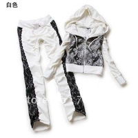 Free Shipping Wholesale Fashion gauze decorative fashion cotton casual suit women