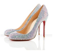 red bottom high heel shoes woman nude platform shoes white wedding shoes women crystal high heels rhinestone pumps