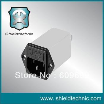 F401A-10A-I2  IEC low pass power line AC socke EMI filter