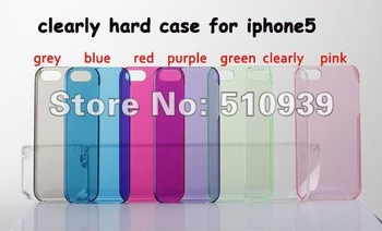 10 Colour For iPhone 5 5G case Transparency Clear Crystal Hard Case For iPhone5 5S 10pcs/lot freeshipping wholesales