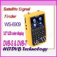 2012 ws6909 DVB-S satellite & Terrestrial DVB-T Combo Meter SIGNAL FINDER (DVB-T) WS 6909 satellite finder free shipping post