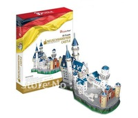 Free Shipping--Selected Version--3D DIY Paper Model 'Neuschwanstein Castle' Educational Puzzle Toy