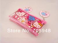 sanrio hello kitty hellokitty pink pencil case ruler rubber pens pen eraser sharpener 6in1 Set