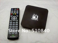 Wholesale Hot Brand New Google Android 4.0 ARM Cortex A9 WiFi HD 1080P 1GHz HDMI Internet Smart  TV Box  + DHL Free shipping