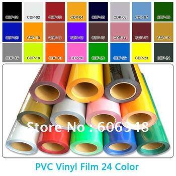 PVC Heat Transfer Film 0.5*25M Per Roll / Heat Press Transfer PVC Vinyl Film 24 Color