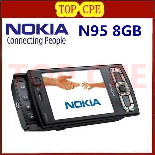 Refurbished Original NOKIA N95 8G internal memory GPS WIFI NOKIA N95 8G original quad band phone(China (Mainland))