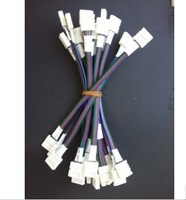 50pcs 4 PIN 10mm Connector Strip to Strip with cable for 5050 RGB Flexible LED Strip free shipping adapter