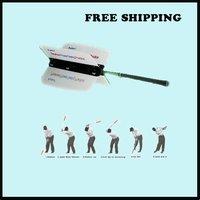 Free Shipping! Power Swing Fan Golf Club Swing Trainer Power Resistance Practice Training Aid