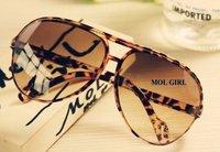2014 Fashion Korean sunglasses women brand Designer Summer Sunglasses Retro Leopard  Mirror Sunglasses Mens Fashion Glasses