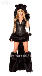 Sexy Cat Woman Costume Animal Style Halloween Costume sm009(China (Mainland))