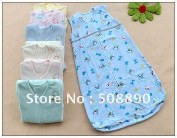 Free shipping New  Coral fleece Baby Infant Sleeping Bag Sleepsacks  10/lot