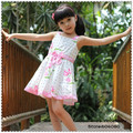 Big Flower Pattern Cotton Girl's Dress,Girls Summer Clothes,Fit 3-7 year old,GD001+Free Shipping