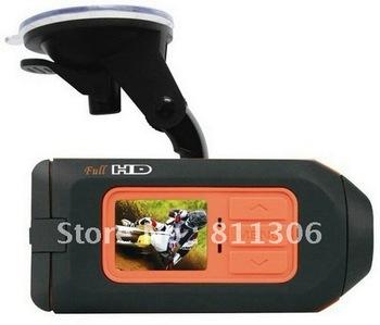 Free Shipping New  Full HD Car DVR,Motorbike Video Camcorder,Sport Helmet Camera Vehicle DVR Remote control T1000