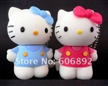 Real memory 2GB 4GB or 8GB 16GB Lovely Hello kitty mini USB flash drive free shipping