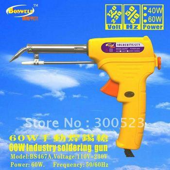 EU plug. 220V/60Hz. 60W soldering gun+Tin wire stent +Tin wirediameter 1.0mm, 1pcs/lot