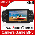 "4.3"" LCD PMP Portable Game Console With 8GB Built-in 2500 Games Mp4 Mp5 Player Camera Ebook FM AV-Out Game Player"