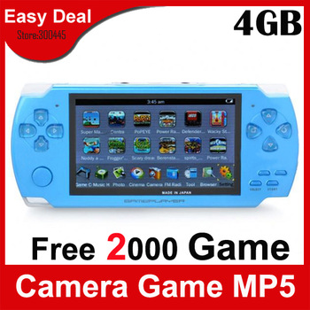 "4.3"" LCD Handheld Game Console With 4GB Built-in 2500 Games Mp4 Mp5 Player Camera Ebook FM  Game Player 100Pcs/Lot Free DHL"
