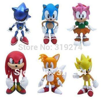 Sonic the Hedgehog 6pcs Mini Figures Loose Free Shipping