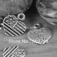 Wholesale 60 PCS Tibetan Silver Heart Love Charm Pendant Jewelry Finding TS6022