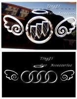 Free shipping!Hot Sale!car stickers Very Fine 3D Angle wings /car accessories/Wholesale+Retail/Three Color/16*5.5CM/10pcs/lot