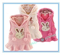 2014 new freeshipping girl dress / children vests/ waistcoats /cute cartoon clothing / winter dress/coat/ 5pcs/lot hotsale
