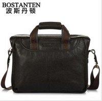 Free shipping Bostanten man genuine leather handbag / man messenger bag