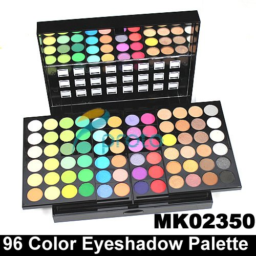 SG POST Freeshipping 3 Layer Design 96 Full Color Eyeshadow Makeup Eye Shadow Palette with 4 brush SKU:M0006(China (Mainland))