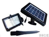 30LED Solar flood light Solar powered outdoor landscape light Super bright Earthquake resistance light 12pcs/lot Free shipping