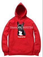2014 winter Hoodie Sweatshirts dogs pattern printing clothing thick overcoat free shipping bit dog cartoon fashion men's coat