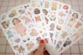 Freeshipping! New kawaii doll paper sticker/note sticker / Decoration label/ 6pcs/set Multifunction/Super gift/Wholesale