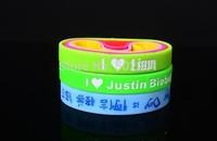 Free Shipping!!! Custom Debossed Silicone Wristband Bracelet, rubber bracelet