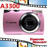 Original Canon PowerShot A3300 IS Digital Camera 5x Optical Zoom, 4x Digital Zoom,16MP Sensor Resolution Free Shipping!!!